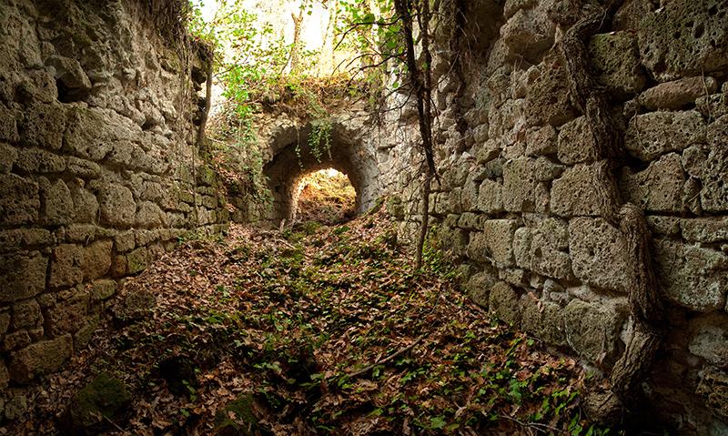 Monastery crypt in Castro