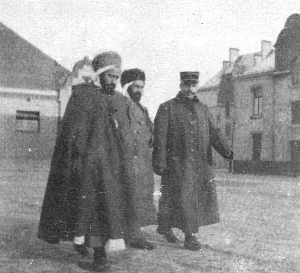 2 Algerian and 1 French officer, Crefeld 1914-17