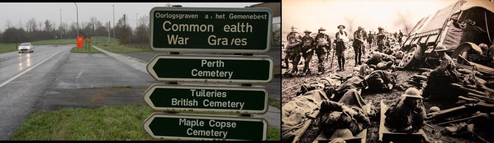 Ypres: Hell-fire Corner, Menin Rd,  2014 - 1916