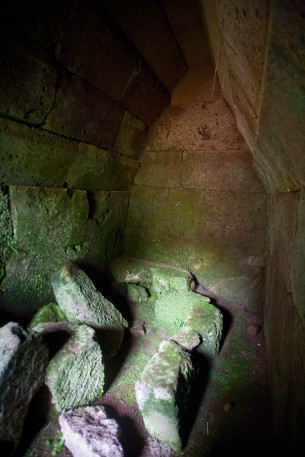 Etruscan Crocefisso Cemetery tomb interior