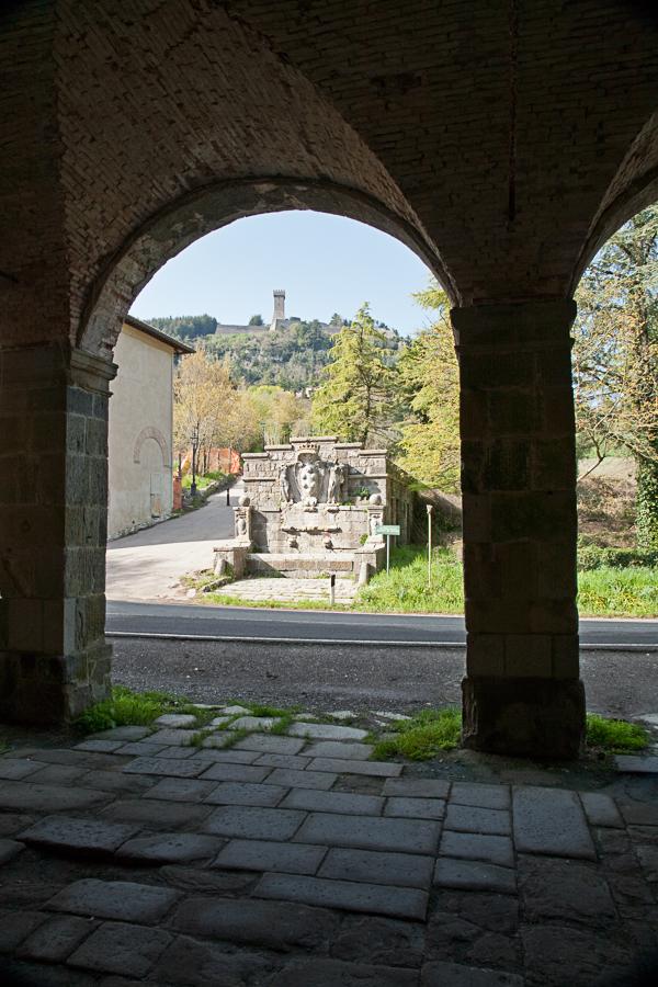 Medici Portico and fountain