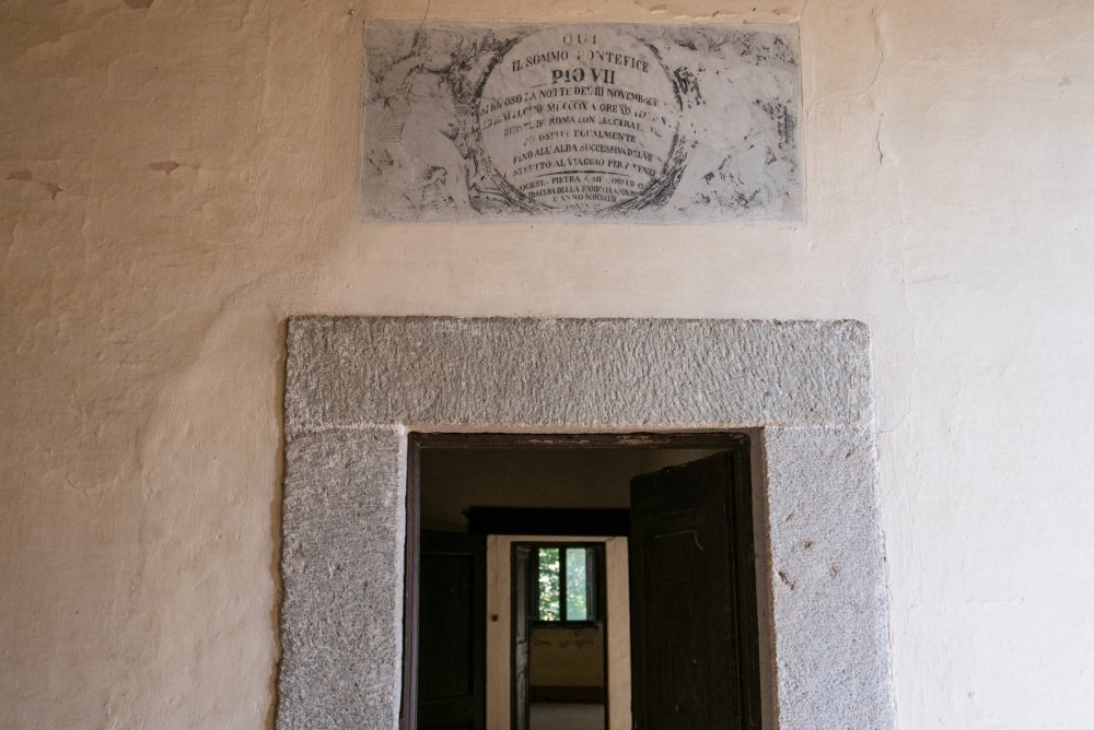 Pope's plaque 1809